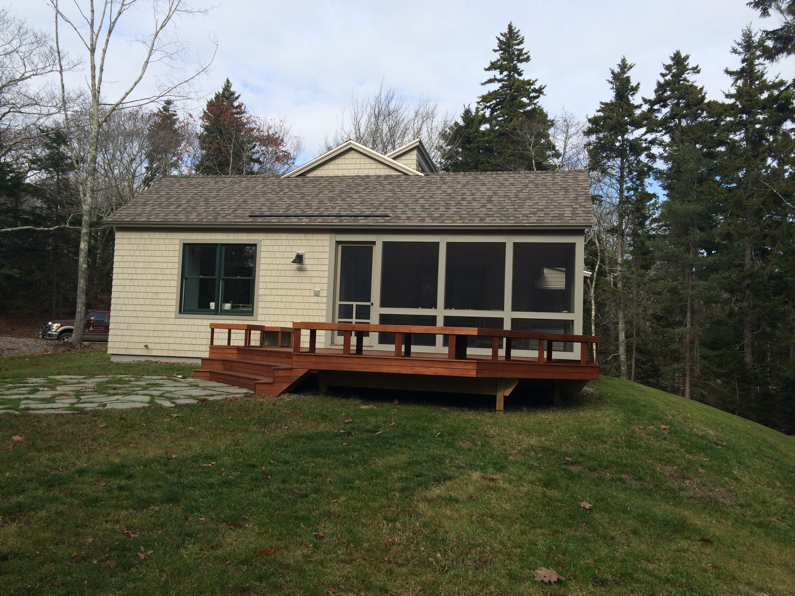 Photos of custom built homes along the coast of maine for Western home builders